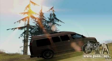 GMC Savana AWD para GTA San Andreas vista hacia atrás