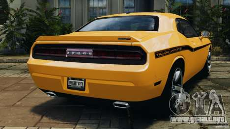 Dodge Challenger SRT8 392 2012 [EPM] para GTA 4 Vista posterior izquierda