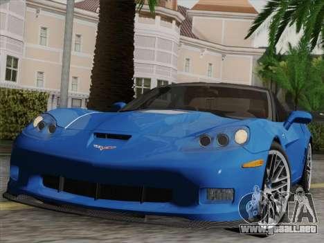 Chevrolet Corvette ZR1 para el motor de GTA San Andreas