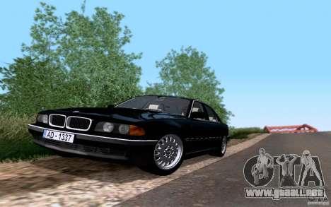 BMW 730i E38 para la visión correcta GTA San Andreas