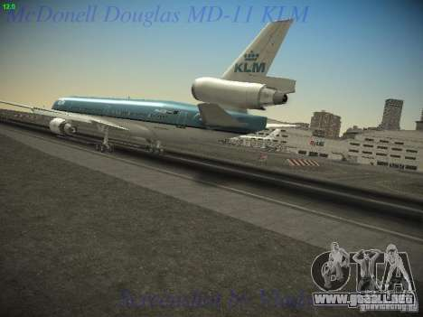 McDonnell Douglas MD-11 KLM Royal Dutch Airlines para GTA San Andreas left