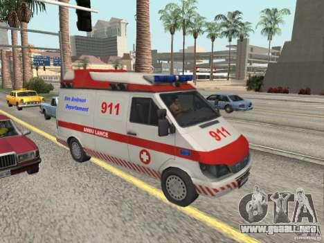 Ford Transit Ambulance para GTA San Andreas