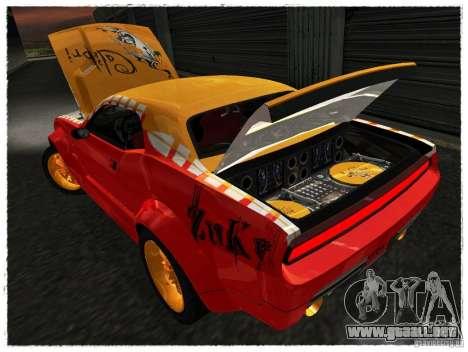 Dodge Challenger Calibri-Ace para GTA San Andreas vista hacia atrás