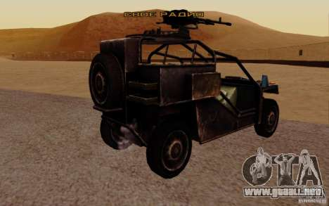 VDV Buggy de Battlefield 3 para GTA San Andreas left