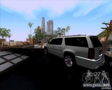 Cadillac Escalade ESV Platinum 2013 para GTA San Andreas vista posterior izquierda