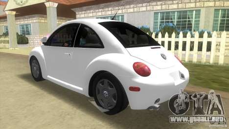 VW New Beetle para GTA Vice City vista lateral izquierdo