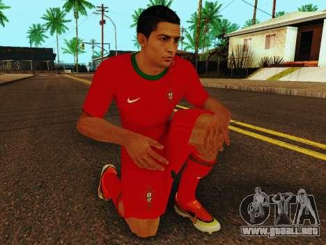 Cristiano Ronaldo v4 para GTA San Andreas quinta pantalla