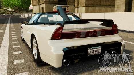 Honda NSX-R GT para GTA 4 Vista posterior izquierda