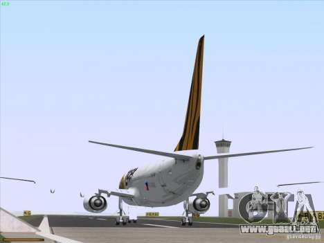Boeing 737-800 Tiger Airways para GTA San Andreas vista hacia atrás