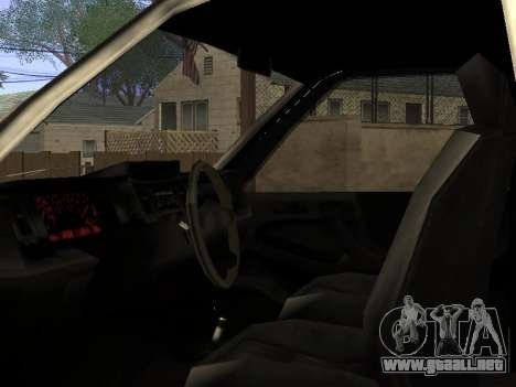 Yosemite Custom para visión interna GTA San Andreas