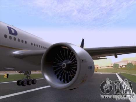 Boeing 777-200 United Airlines para GTA San Andreas vista hacia atrás