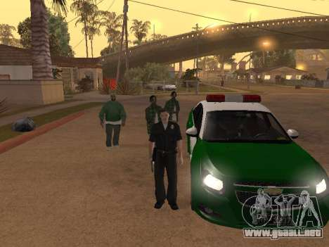 Chevrolet Cruze Carabineros Police para GTA San Andreas