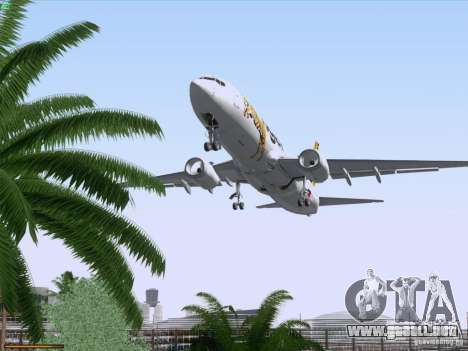 Boeing 737-800 Tiger Airways para vista inferior GTA San Andreas