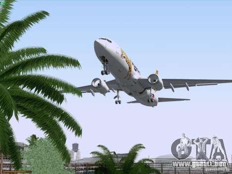 Boeing 737-800 Tiger Airways para vista inferior GTA San Andreas