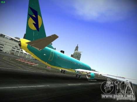 Boeing 737-84R AeroSvit Ukrainian Airlines para la visión correcta GTA San Andreas