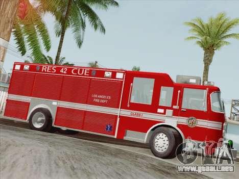 Pierce Contender LAFD Rescue 42 para las ruedas de GTA San Andreas