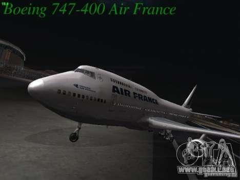 Boeing 747-400 Air France para GTA San Andreas left