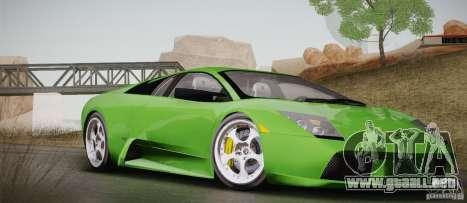 Lamborghini Murcielago 2002 v 1.0 para vista lateral GTA San Andreas