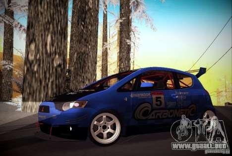 Mitsubishi Colt Rallyart Carbon 2010 para GTA San Andreas left