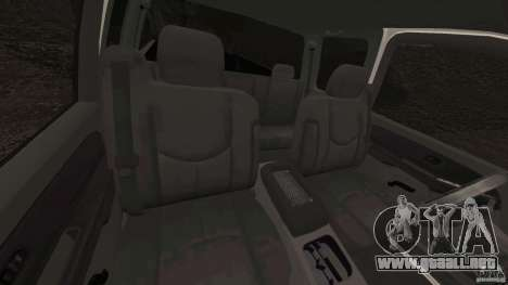 Chevrolet Silverado 2500 Lifted Edition 2000 para GTA 4 vista interior