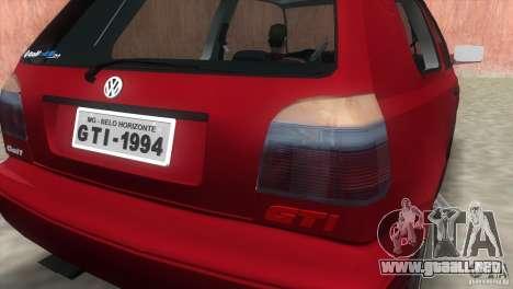Volkswagen Golf GTI 1994 para GTA Vice City visión correcta