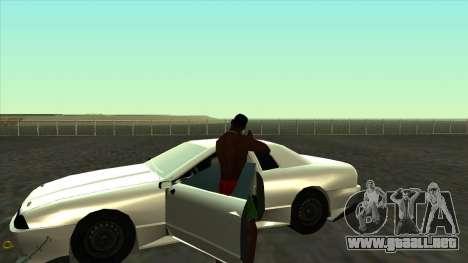 Elegy Roportuance para GTA San Andreas vista hacia atrás