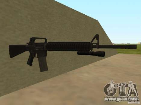 M4A1 from Left 4 Dead 2 para GTA San Andreas