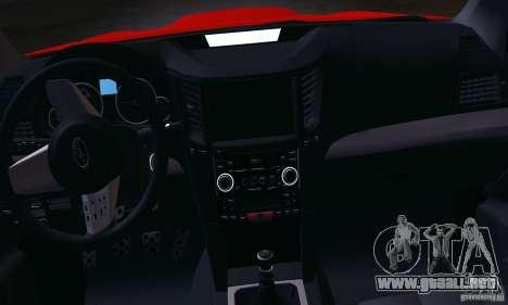 Subaru Legacy B4 2010 para visión interna GTA San Andreas