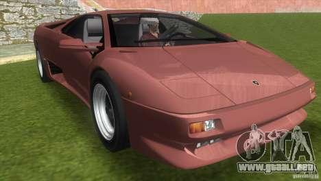 Lamborghini Diablo VTTT Black Revel para GTA Vice City