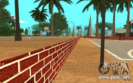 Nueva cancha de baloncesto de texturas para GTA San Andreas sucesivamente de pantalla