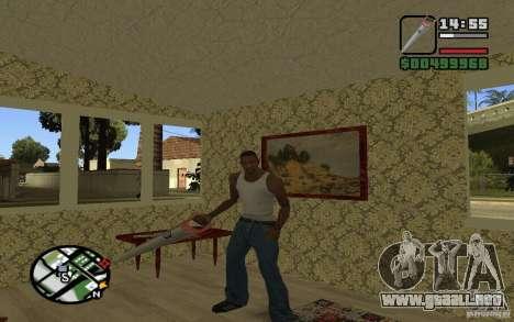 Sierra para GTA San Andreas sucesivamente de pantalla
