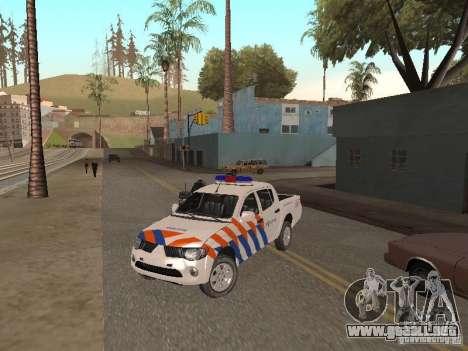 Mitsubishi L200 Police para GTA San Andreas