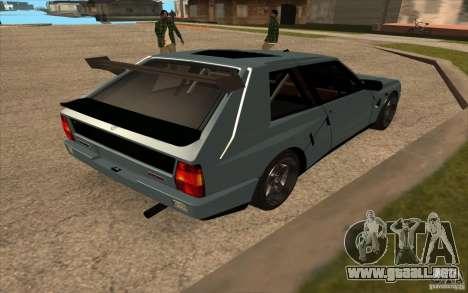 Lancia Delta Integrale para la visión correcta GTA San Andreas