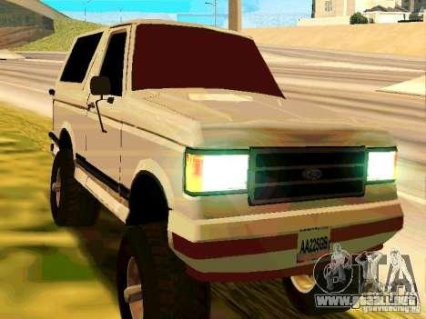 Ford Bronco 1990 para GTA San Andreas left