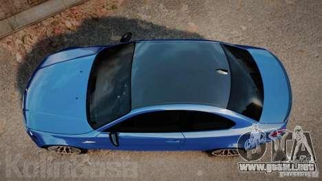 BMW 1M 2011 Carbon para GTA 4 visión correcta