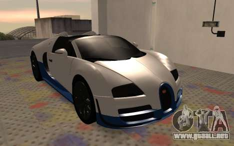 Bugatti Veyron Grand Sport Vitesse para GTA San Andreas left