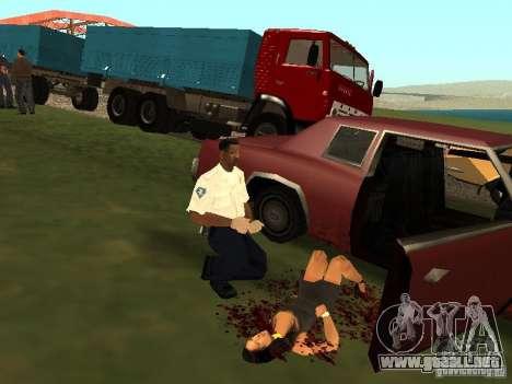 Un horrible accidente para GTA San Andreas sucesivamente de pantalla