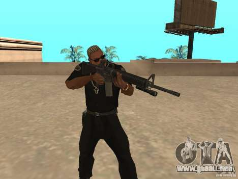M4A1 from Left 4 Dead 2 para GTA San Andreas tercera pantalla
