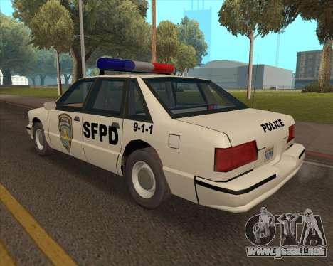 Updated SFPD para GTA San Andreas left