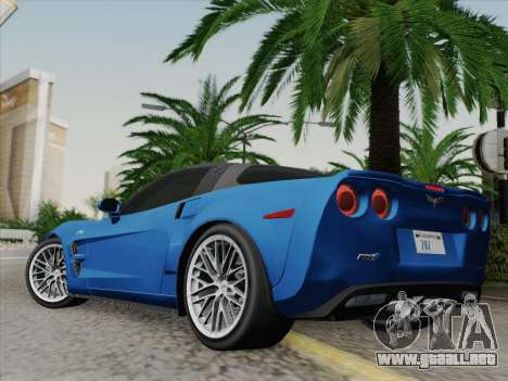 Chevrolet Corvette ZR1 para GTA San Andreas left