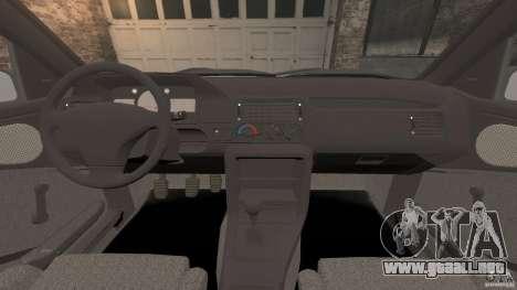 Ford Escort L 1994 Custom para GTA 4 vista hacia atrás