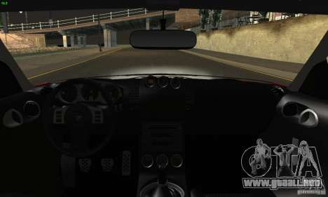 Nissan 350Z Tunable para vista inferior GTA San Andreas
