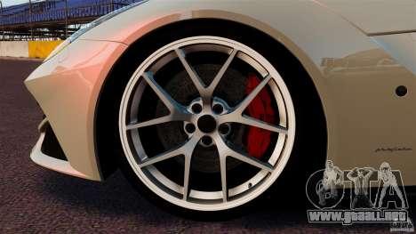 Ferrari F12 Berlinetta DCM para GTA 4 vista superior