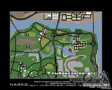 Villa en la Laguna de pesca para GTA San Andreas undécima de pantalla