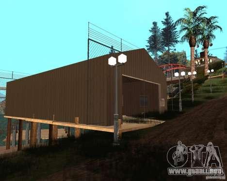 Villa en la Laguna de pesca para GTA San Andreas octavo de pantalla
