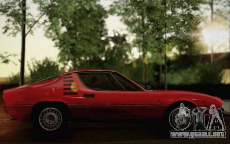 Alfa Romeo Montreal 1970 para GTA San Andreas vista posterior izquierda