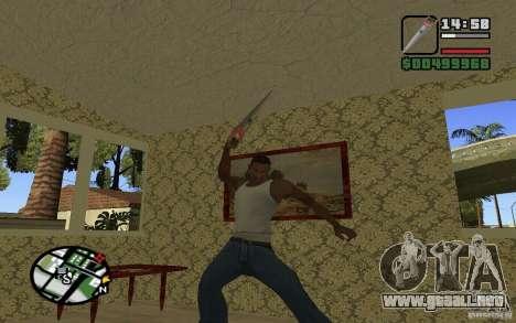 Sierra para GTA San Andreas quinta pantalla