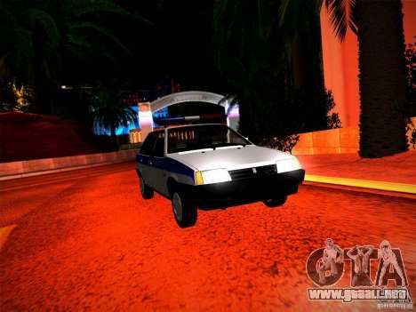 Policía Vaz 2109 para la visión correcta GTA San Andreas