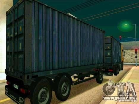 Trailer de Iveco Stralis para GTA San Andreas vista posterior izquierda