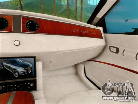 Bugatti Galibier 16c para vista lateral GTA San Andreas